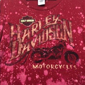 Custom Harley-Davidson bleached t-shirt